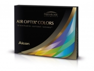 Air Optix Colors - Gemstone Green - z dioptrijo (2 leči)