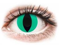 Zelene kontaktne leče - brez dioptrije - ColourVUE Crazy Lens - Anaconda - brez dioptrije (2 leči)