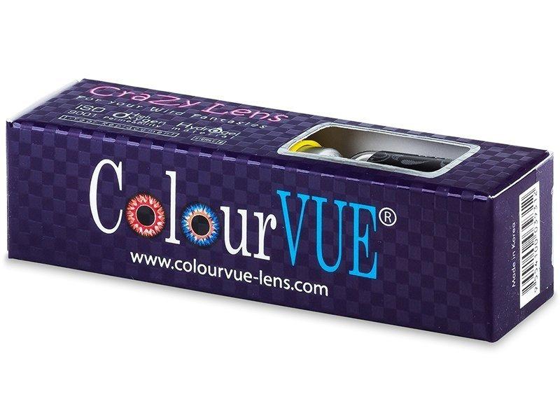 ColourVUE Crazy Lens - BlackOut - brez dioptrije (2 leči) - ColourVUE Crazy Lens - BlackOut - brez dioptrije (2 leči)