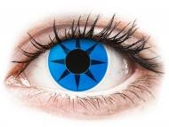 Posebne barvne leče - brez dioptrije - ColourVUE Crazy Lens - Blue Star - brez dioptrije (2 leči)