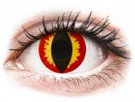 Oranžne kontaktne leče - brez dioptrije - ColourVUE Crazy Lens - Dragon Eyes - brez dioptrije (2 leči)
