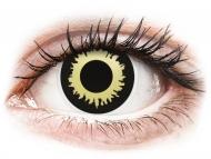Črne kontaktne leče - brez dioptrije - ColourVUE Crazy Lens - Eclipse - brez dioptrije (2 leči)