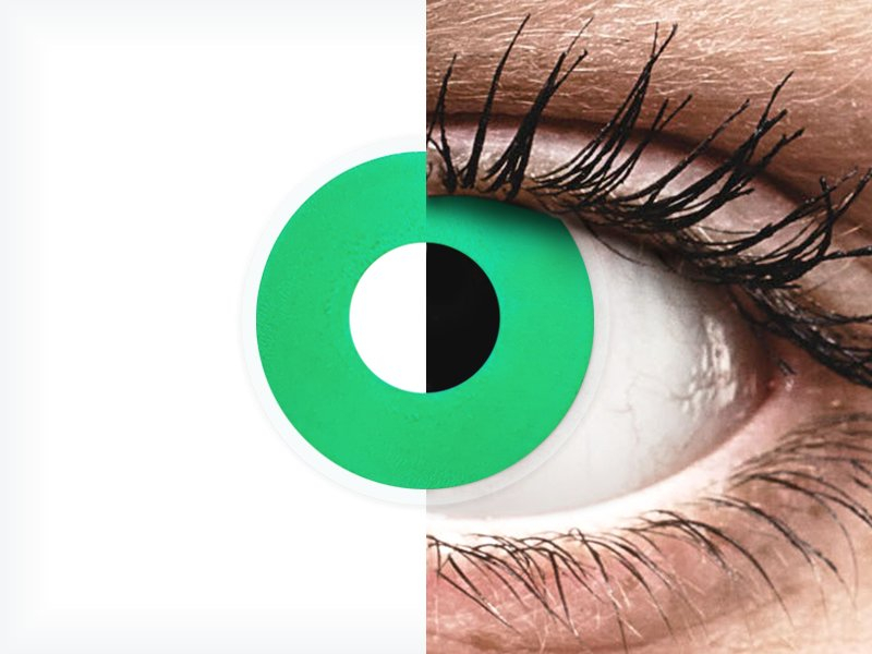 ColourVUE Crazy Lens - Emerald (Green) - brez dioptrije (2 leči) - ColourVUE Crazy Lens - Emerald (Green) - brez dioptrije (2 leči)