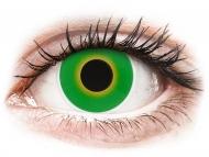 Posebne barvne leče - brez dioptrije - ColourVUE Crazy Lens - Hulk Green - brez dioptrije (2 leči)