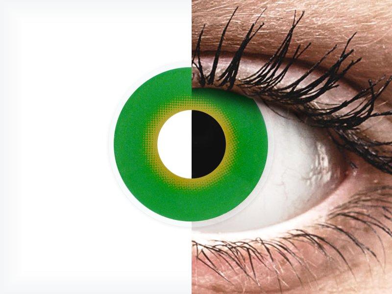 ColourVUE Crazy Lens - Hulk Green - brez dioptrije (2 leči) - ColourVUE Crazy Lens - Hulk Green - brez dioptrije (2 leči)