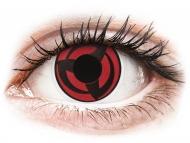 Črne kontaktne leče - brez dioptrije - ColourVUE Crazy Lens - Kakashi - brez dioptrije (2 leči)