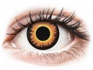 Posebne barvne leče - brez dioptrije - ColourVUE Crazy Lens - Orange Werewolf - brez dioptrije (2 leči)