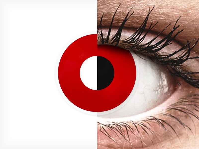 ColourVUE Crazy Lens - Red Devil - brez dioptrije (2 leči) - ColourVUE Crazy Lens - Red Devil - brez dioptrije (2 leči)