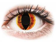 Oranžne kontaktne leče - brez dioptrije - ColourVUE Crazy Lens - Saurons Eye - brez dioptrije (2 leči)