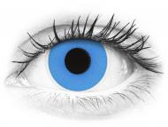 ColourVUE Crazy Lens - Sky Blue - brez dioptrije (2 leči)