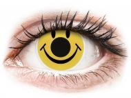 Posebne barvne leče - brez dioptrije - ColourVUE Crazy Lens - Smiley - brez dioptrije (2 leči)