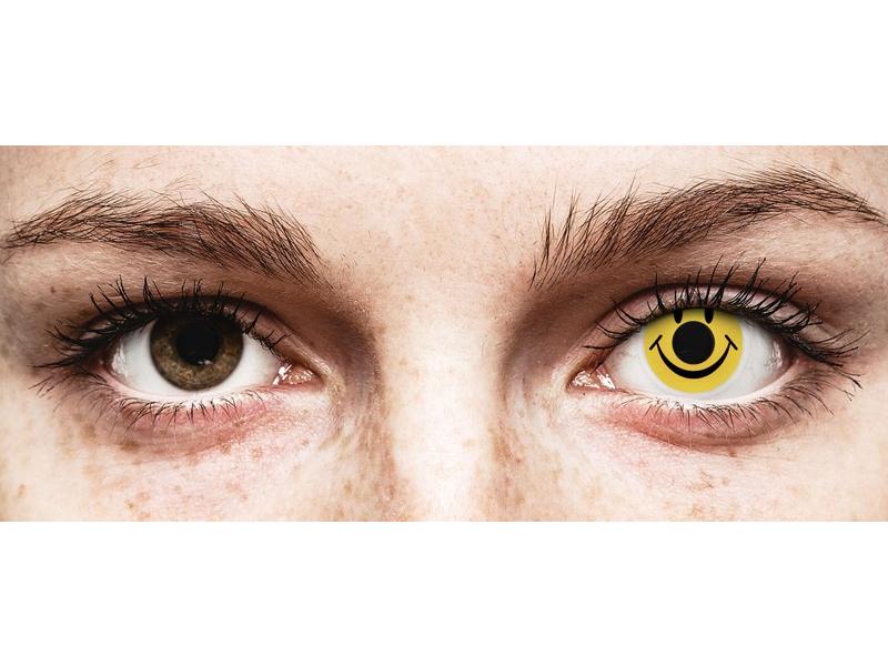 ColourVUE Crazy Lens - Smiley - brez dioptrije (2 leči) - ColourVUE Crazy Lens - Smiley - brez dioptrije (2 leči)
