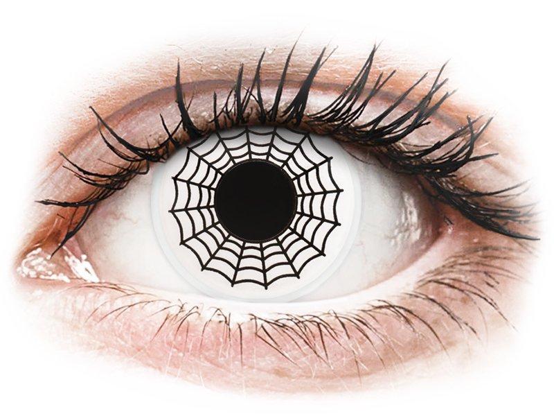ColourVUE Crazy Lens - Spider - brez dioptrije (2 leči)