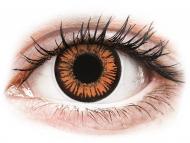 Oranžne kontaktne leče - brez dioptrije - ColourVUE Crazy Lens - Twilight - brez dioptrije (2 leči)
