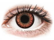 Oranžne kontaktne leče - brez dioptrije - ColourVUE Crazy Lens - Vampire - brez dioptrije (2 leči)