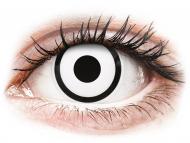 Bele kontaktne leče - brez dioptrije - ColourVUE Crazy Lens - White Zombie - brez dioptrije (2 leči)