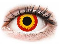 Rumene kontaktne leče - brez dioptrije - ColourVUE Crazy Lens - Wildfire - brez dioptrije (2 leči)