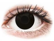Črne kontaktne leče - z dioptrijo - ColourVUE Crazy Lens - BlackOut - z dioptrijo (2 leči)