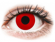 Posebne barvne leče - z dioptrijo - ColourVUE Crazy Lens - Red Devil - z dioptrijo (2 leči)