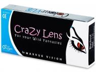 ColourVUE Crazy Lens - Solar Blue - z dioptrijo (2 leči)