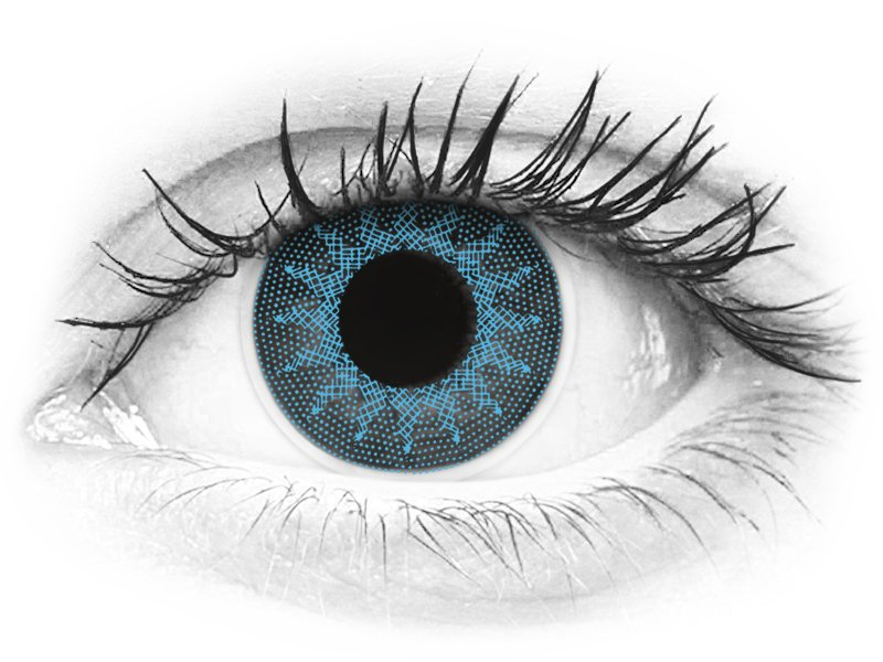 ColourVUE Crazy Lens - Solar Blue - z dioptrijo (2 leči) - ColourVUE Crazy Lens - Solar Blue - z dioptrijo (2 leči)