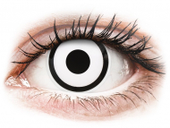 Posebne barvne leče - z dioptrijo - ColourVUE Crazy Lens - White Zombie - z dioptrijo (2 leči)