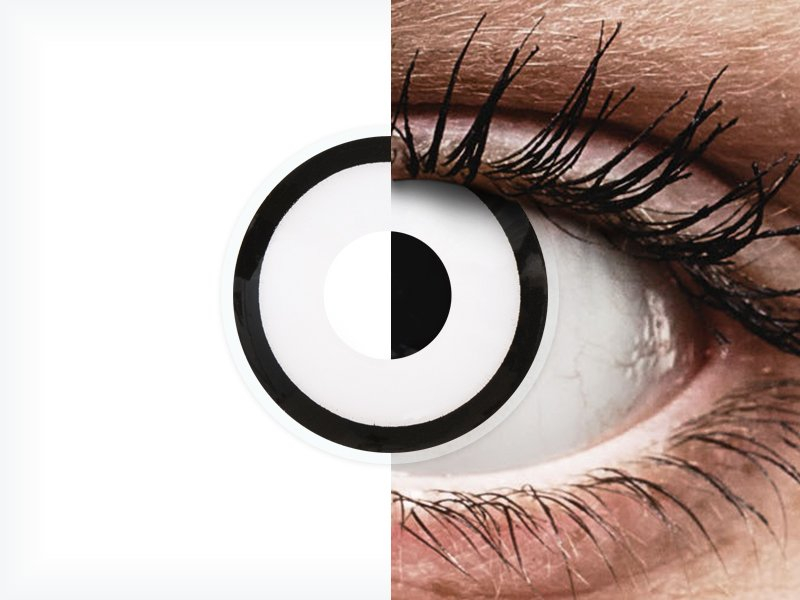 ColourVUE Crazy Lens - White Zombie - z dioptrijo (2 leči) - ColourVUE Crazy Lens - White Zombie - z dioptrijo (2 leči)