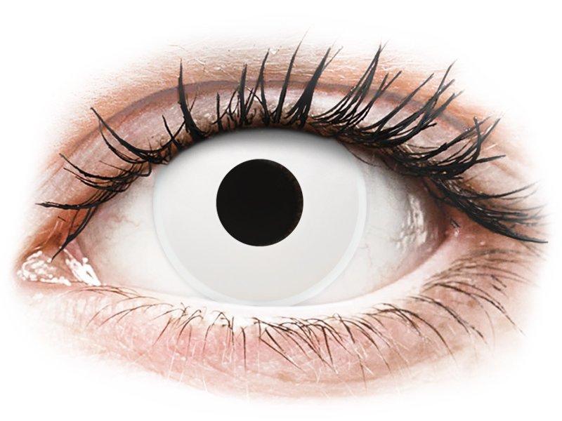 ColourVUE Crazy Lens - WhiteOut - z dioptrijo (2 leči)