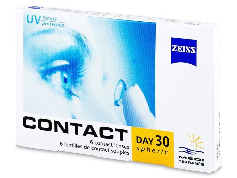 Mesečne kontaktne leče - Contact Day 30 Spheric (6 leč)