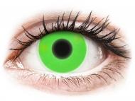 Posebne barvne leče - brez dioptrije - ColourVUE Crazy Glow Green - brez dioptrije (2 leči)