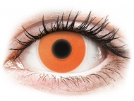 Oranžne kontaktne leče - brez dioptrije - ColourVUE Crazy Glow Orange - brez dioptrije (2 leči)