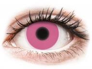 Posebne barvne leče - brez dioptrije - ColourVUE Crazy Glow Pink - brez dioptrije (2 leči)