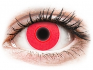 Barvne kontaktne leče brez dioptrije - ColourVUE Crazy Glow Red - brez dioptrije (2 leči)
