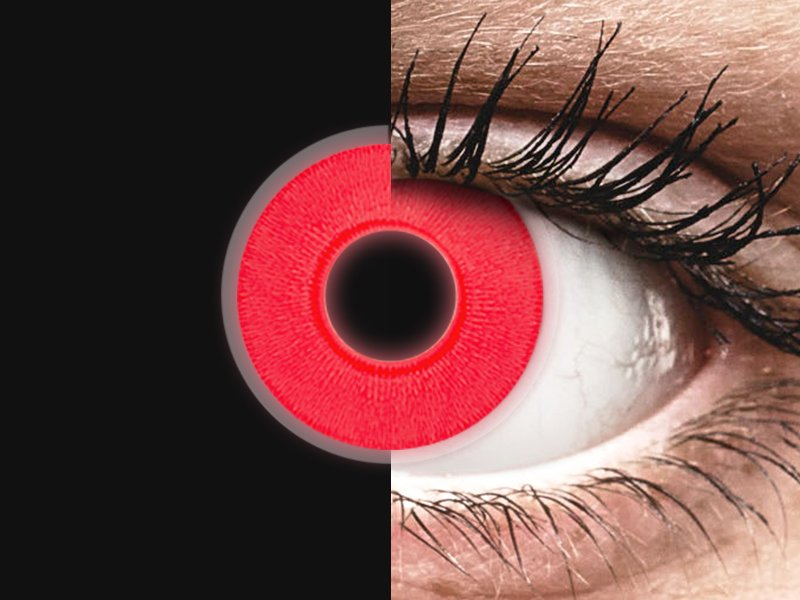 ColourVUE Crazy Glow Red - brez dioptrije (2 leči) - ColourVUE Crazy Glow Red - brez dioptrije (2 leči)