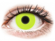 Barvne kontaktne leče brez dioptrije - ColourVUE Crazy Glow Yellow - brez dioptrije (2 leči)