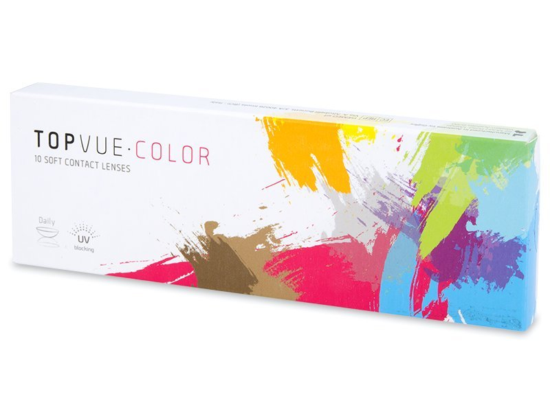 TopVue Color daily - Blue - brez dioptrije (10 leč)