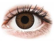 Barvne kontaktne leče z dioptrijo - TopVue Color daily - Brown - z dioptrijo (10 leč)