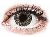 Barvne kontaktne leče z dioptrijo - TopVue Color - Grey - z dioptrijo (2 leči)