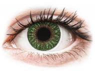 Barvne kontaktne leče z dioptrijo - TopVue Color - Green - z dioptrijo (2 leči)