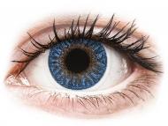 Barvne kontaktne leče z dioptrijo - TopVue Color - True Sapphire - z dioptrijo (2 leči)