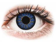 Barvne kontaktne leče z dioptrijo - ColourVUE Glamour Blue - z dioptrijo (2 leči)