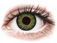 Barvne kontaktne leče z dioptrijo - ColourVUE Glamour Green - z dioptrijo (2 leči)