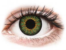 ColourVUE Glamour Green - z dioptrijo (2 leči)