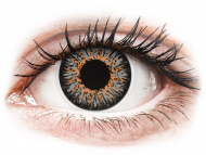 Barvne kontaktne leče z dioptrijo - ColourVUE Glamour Grey - z dioptrijo (2 leči)