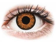 Rjave kontaktne leče - z dioptrijo - ColourVUE Glamour Honey - z dioptrijo (2 leči)