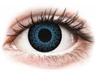 Modre kontaktne leče - brez dioptrije - ColourVUE Eyelush Blue - brez dioptrije (2 leči)
