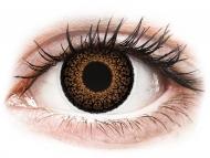 Rjave kontaktne leče - brez dioptrije - ColourVUE Eyelush Brown - brez dioptrije (2 leči)