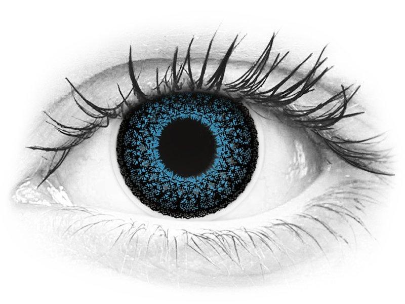 ColourVUE Eyelush Blue - z dioptrijo (2 leči)
