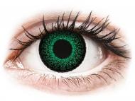 Barvne kontaktne leče z dioptrijo - ColourVUE Eyelush Green - z dioptrijo (2 leči)