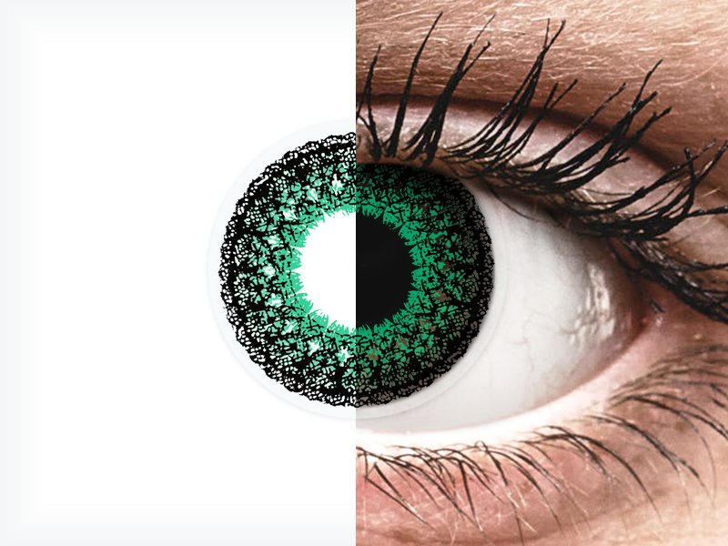 ColourVUE Eyelush Green - z dioptrijo (2 leči) - ColourVUE Eyelush Green - z dioptrijo (2 leči)